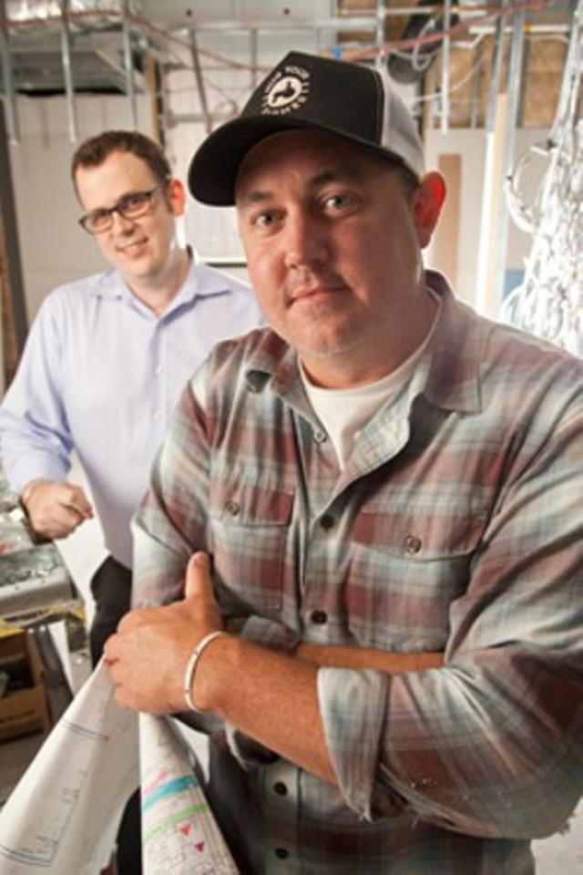 Eric Warnstedt, right, with William McNeil - FILE: MATTHEW THORSEN
