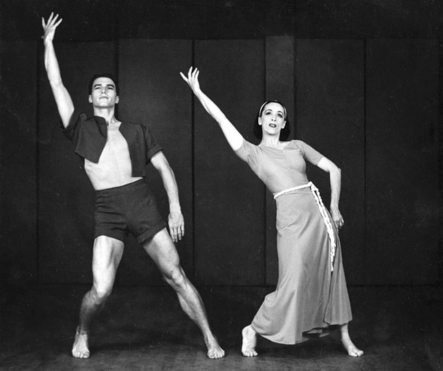 Erick Hawkins and Martha Graham - COURTESY OF BENNINGTON COLLEGE AND THE AMY E. TARRANT GALLERY