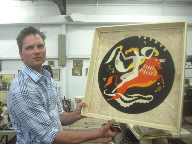 Ethan Merrill with a Szoeke cut-felt zodiac sign
