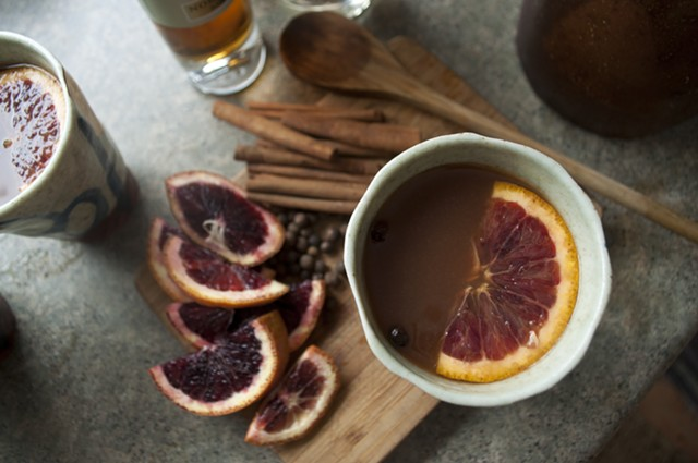 Cold? This hot cider cocktail is half tea, half juice, with a shot of booze for fun. - HANNAH PALMER EGAN