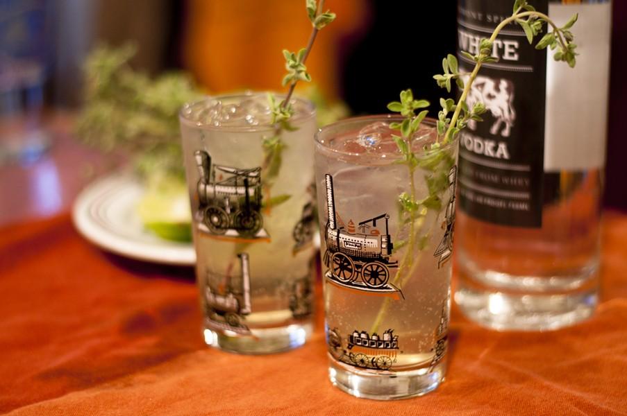 Vodka, lime, ginger beer, herbs. Easy peasy. - HANNAH PALMER EGAN