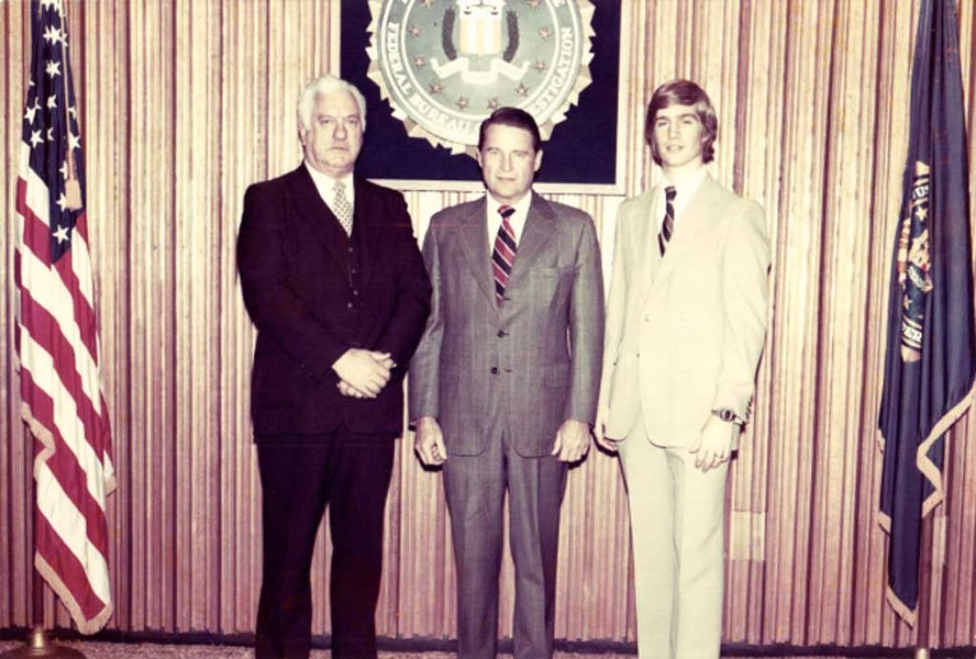 FBI Director William Webster and future sheriff Kevin McLaughlin in 1980 - COURTESY OF SHERIFF EARLE MCLAUGHLIN