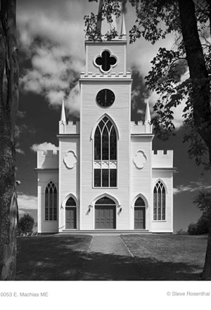 "COURTESY OF AVA GALLERY - ""First Congregational, Machias, Maine"" by Steve Rosenthal"