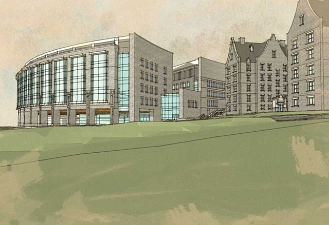 Fletcher Allen Health Care Inpatient Building, plans
