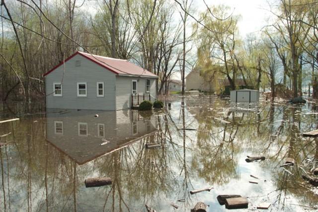 flooding in Burlington's New North End - MATTHEW THORSEN