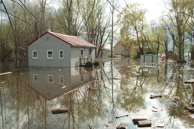 flooding in Burlington's New North End - MATTHEW THORSEN