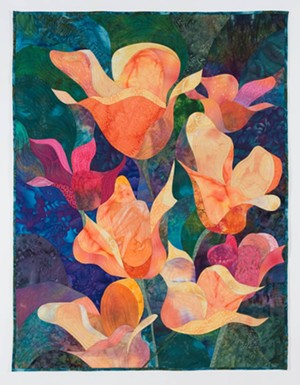 "COURTESY OF COMPASS MUSIC AND ART - ""Floral Form II"" by Judy Dales"