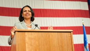 Former Secretary of State Condoleezza Rice speaks at Norwich University