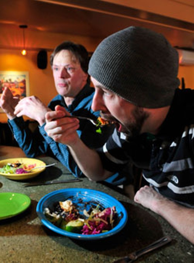 Frida's chef-owners, Jack Pickett, left, and Joshua Bard - JEB WALLACE-BRODEUR