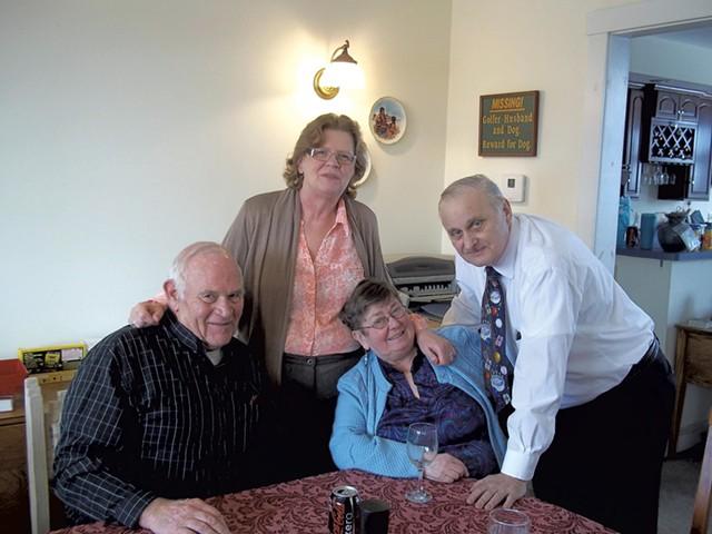 From left: Sears with Irene Machemer, Sears' wife, Beverly, and Irene's husband, William - MATTHEW THORSEN