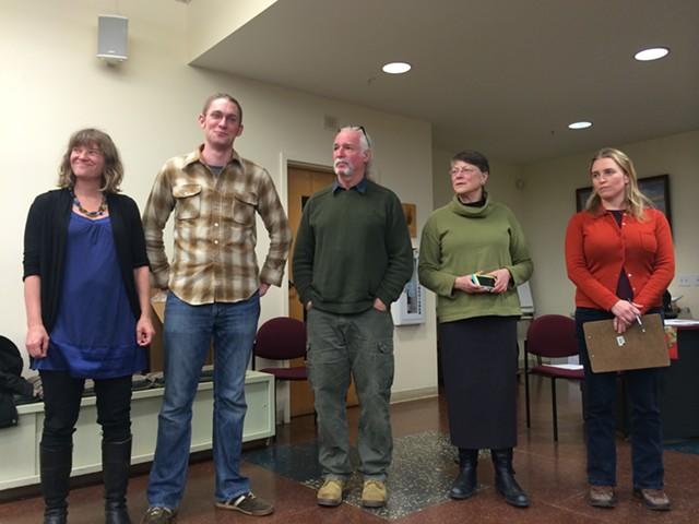 From left, Selene Colburn, Max Tracy, Steve Goodkind, Jane Knodell and Sara Giannoni - ALICIA FREESE