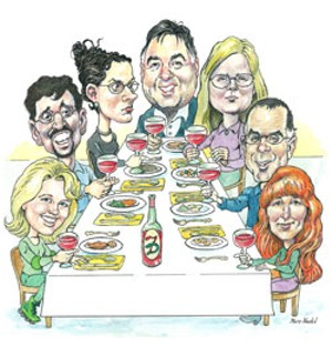 From left to right: Cat Woodward, RudigerVT, Miss Molly, TonyO, Morganna, DanielS, VTRedhead