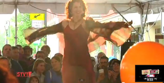 """From """"Stuck in Vermont,"""" Montpelier Fashion Show - COURTESY OF EVA SOLLBERGER"""