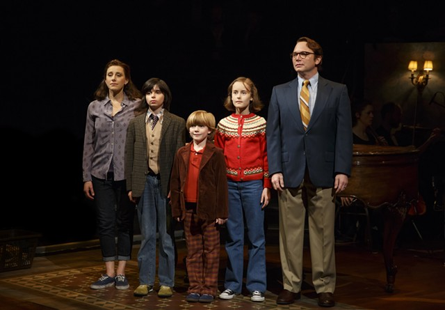 Fun Home's Bechdel family: Judy Kuhn, Oscar Williams, Zell Steele Morrow, Sydney Lucas, Michael Cerveris - COURTESY OF JOAN MARCUS