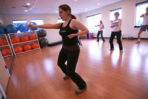 JORDAN SILVERMAN - Gen Burnell Leads A Class In Zumba