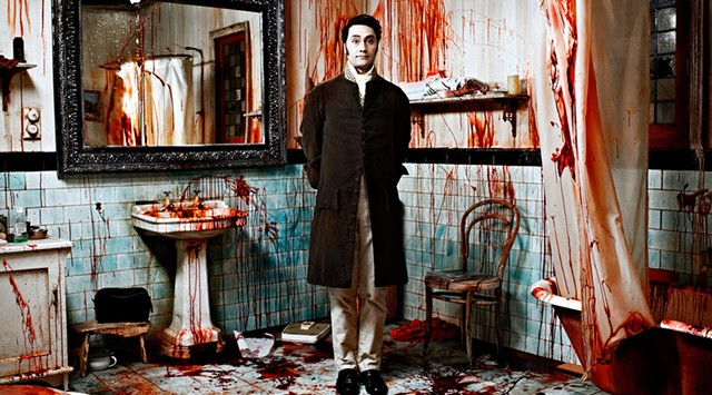 GORE CHORE: Waititi chipperly attests to the difficulty of keeping a vampire's abode clean.