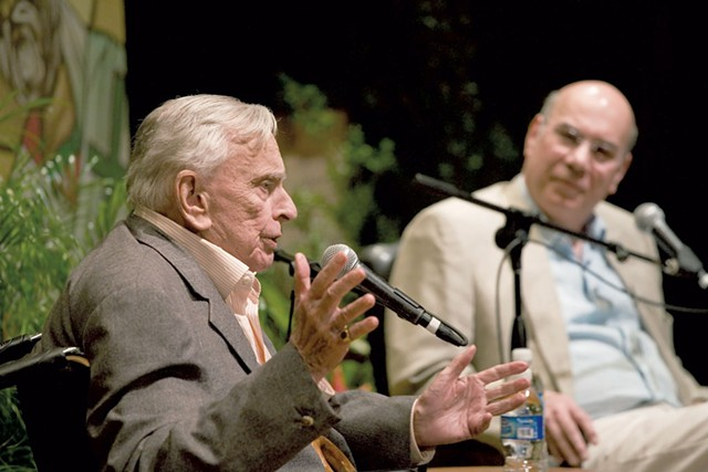 Gore Vidal (left) and Jay Parini - COURTESY OF OLIVER PARINI