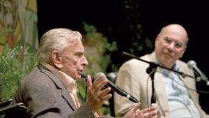 Gore Vidal (left) and Jay Parini