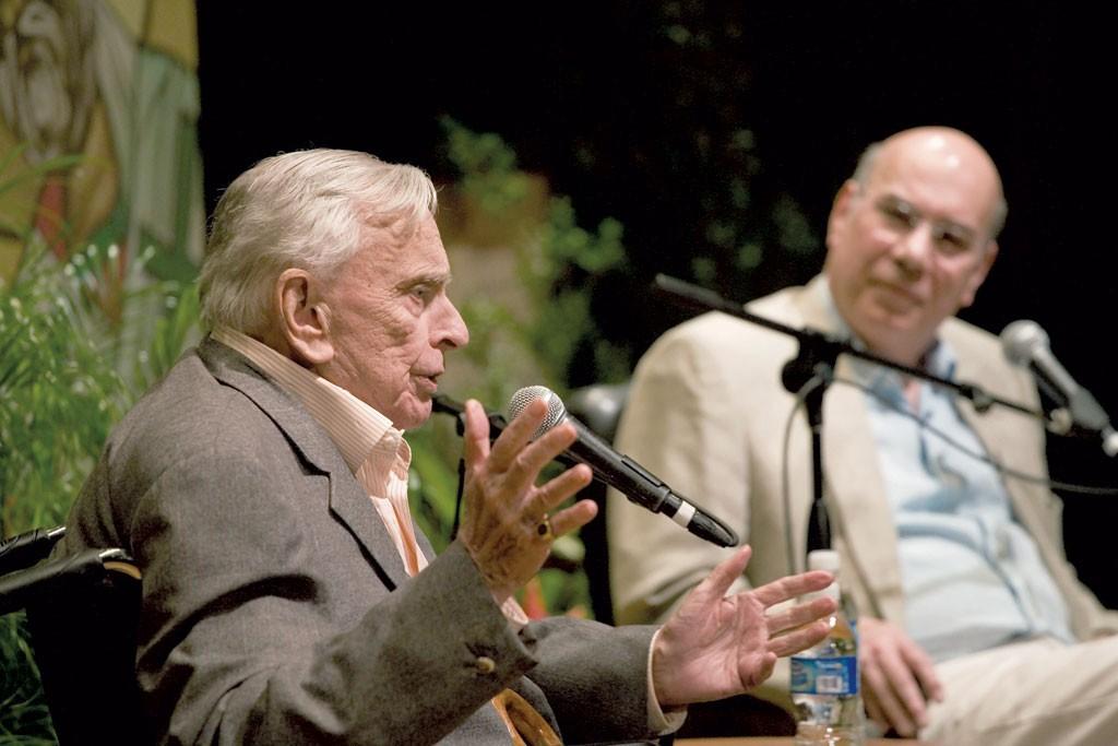 Gore Vidal (left) and Jay Parini - COURTESY OF OLIVER PARINI