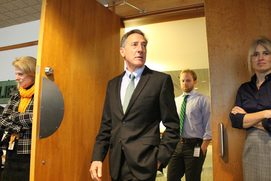 Gov. Peter Shumlin Wednesday in Montpelier. - PAUL HEINTZ