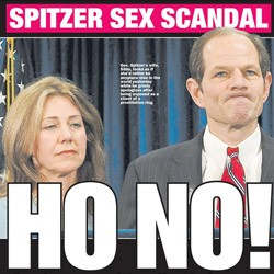 GOVERNMENT SERVICE Gibney reveals the dirty tricks leading to the revelation that Spitzer patronized an escort business.
