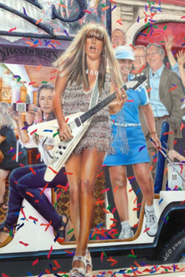 Grace Potter's likeness on the Church Street mural