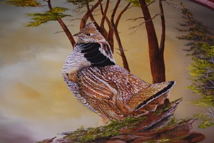 COURTESY OF ARTISTS IN RESIDENCE - Grouse painting by Frank Tiralla