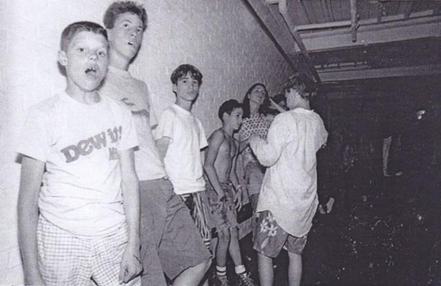 Hanging out - at 242 Main, - 1980s - COURTESY OF KIRK FLANAGAN