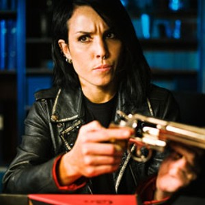 HARMED AND DANGEROUS Rapace prepares to unleash more vengeance on men who hate women in the Swedish sequel.