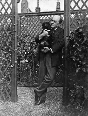 Henry James in his garden, 1904