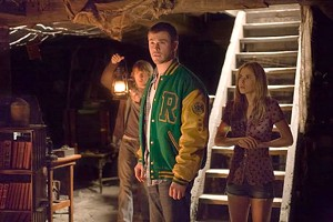 HORROR 101 Hemsworth and his friends learn an important lesson: If you find yourself in a cabin in the woods, don't explore the freakin' basement!