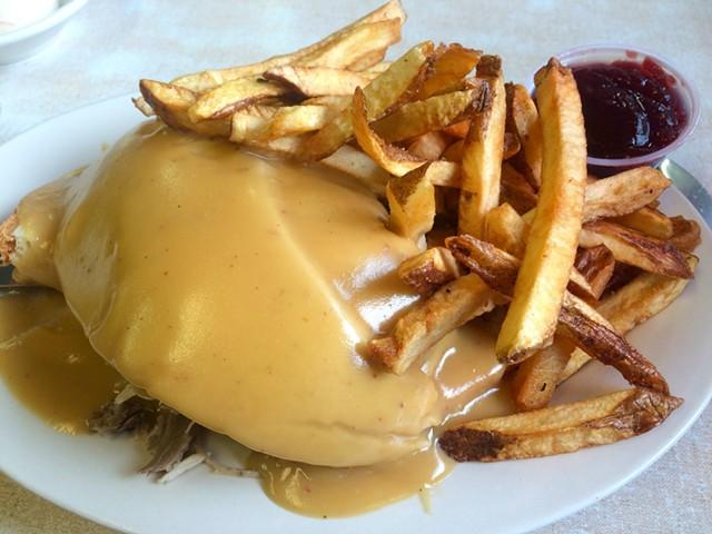 Hot turkey sandwich, Parkway Diner, South Burlington - ALICE LEVITT