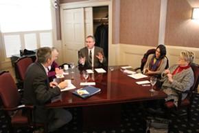 Senator-elect Brian Campion, Sen. Alice Nitka, Sen. Phil Baruth, Senator-Elect Becca Balint, Sen. Ann Cummings - PAUL HEINTZ