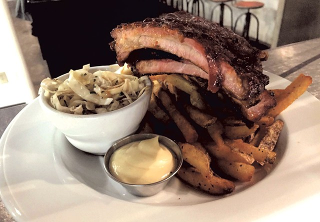House-smoked baby back ribs - COURTESY OF NEWPORT CIDERHOUSE BAR & GRILL