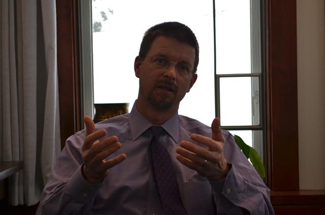 House Speaker Shap Smith in his Statehouse office. - PAUL HEINTZ