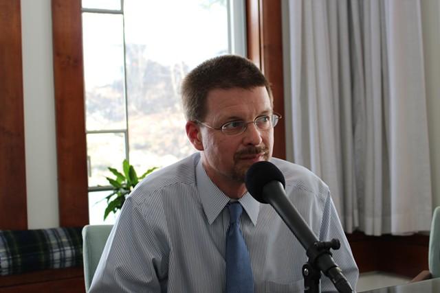 House Speaker Shap Smith in his Statehouse office Wednesday. - PAUL HEINTZ