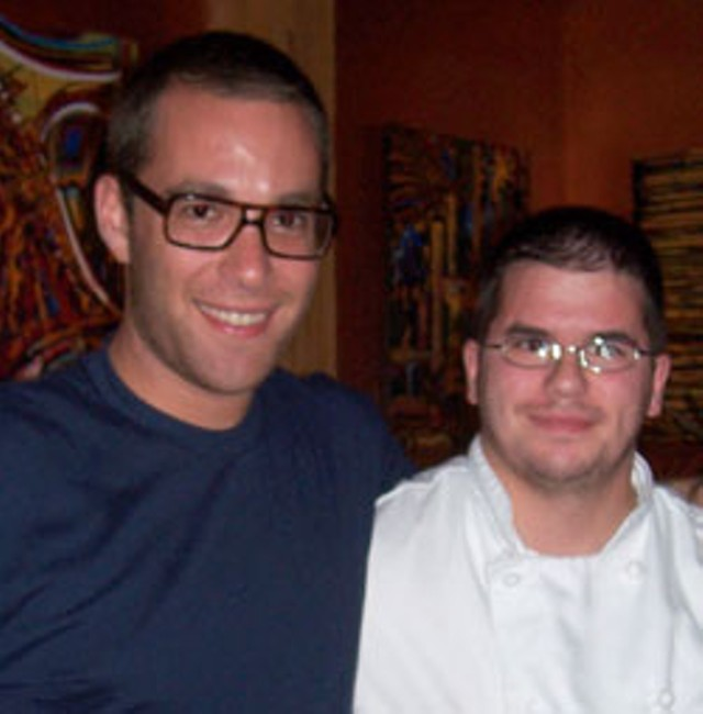 Ilan Hall, left with Donald Cobb at Taste