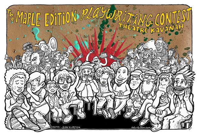 "Illustrator Ivan Klipstein's poster design for Theatre Kavanah's ""JPP Playwriting Contest — Maple Edition"" event - COURTESY OF IVAN KLIPSTEIN"