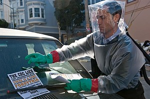 INFORMATION VIRUS Law approaches the pandemic his own way in Soderbergh's real-life disaster film.