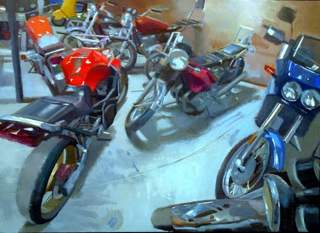 """""""Inside ICCE Motorcycle"""" by Andrew Patterson-Tutschka"""