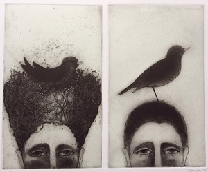 COURTESY OF TRPS - Itaglio etching by Judith Lampe