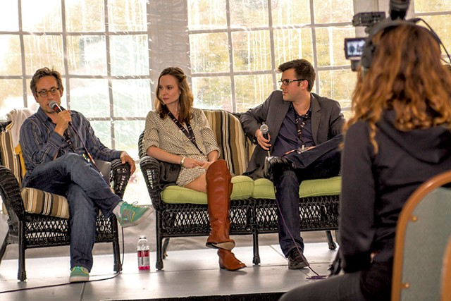 ITV Fest 2013 panel discussion with A.J. Tesler, Stephanie Scott of MomCave TV and Dan Milano of DailyMotion