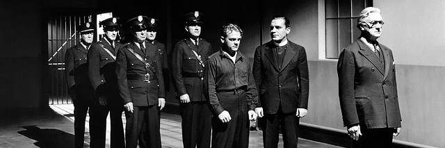 James Cagney (center) and Pat O'Brien (in priestly attire) in Angels With Dirty Faces - WARNER BROS. PICTURES