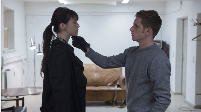 Jamie Bell plays Christian Grey with the not-so-naïve Gainsbourg. - MAGNOLIA