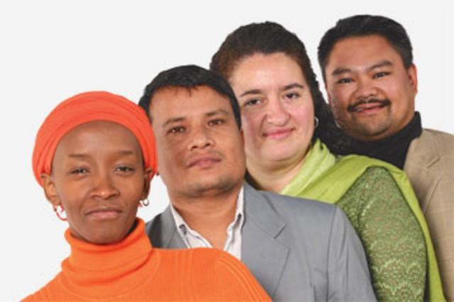 Jeanine Bunzigiye, Harka Khadka, Sara Martinez de Osaba, Dan Balón
