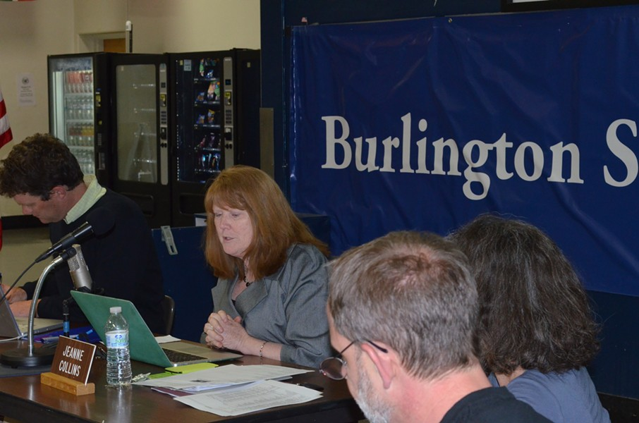 Jeanne Collins at the Burlington School Board meeting on Tuesday. - ALICIA FREESE