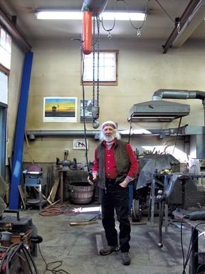 Jeffrey Sass in his studio - MEG BRAZILL