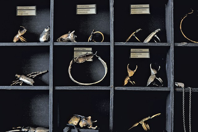 Jewelry made with cast beetles - SARAH PRIESTAP