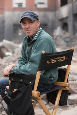 Jon Kilik on the set of The Hunger Games: Mockingjay, Part 1 - COURTESY OF JON KILIK