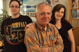 MATTHEW THORSEN - Katie Tanner, Dr. Fred Holmes, and Nicky Hayden, LPN